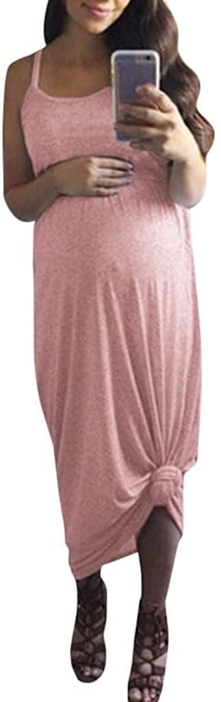 Women Sleeveless Maternity Dress Casual Long Maxi Dresses Summer Holiday Skirt Sundress