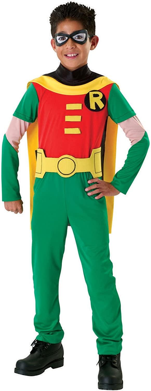Boys Teen Titans Robin Costume - L