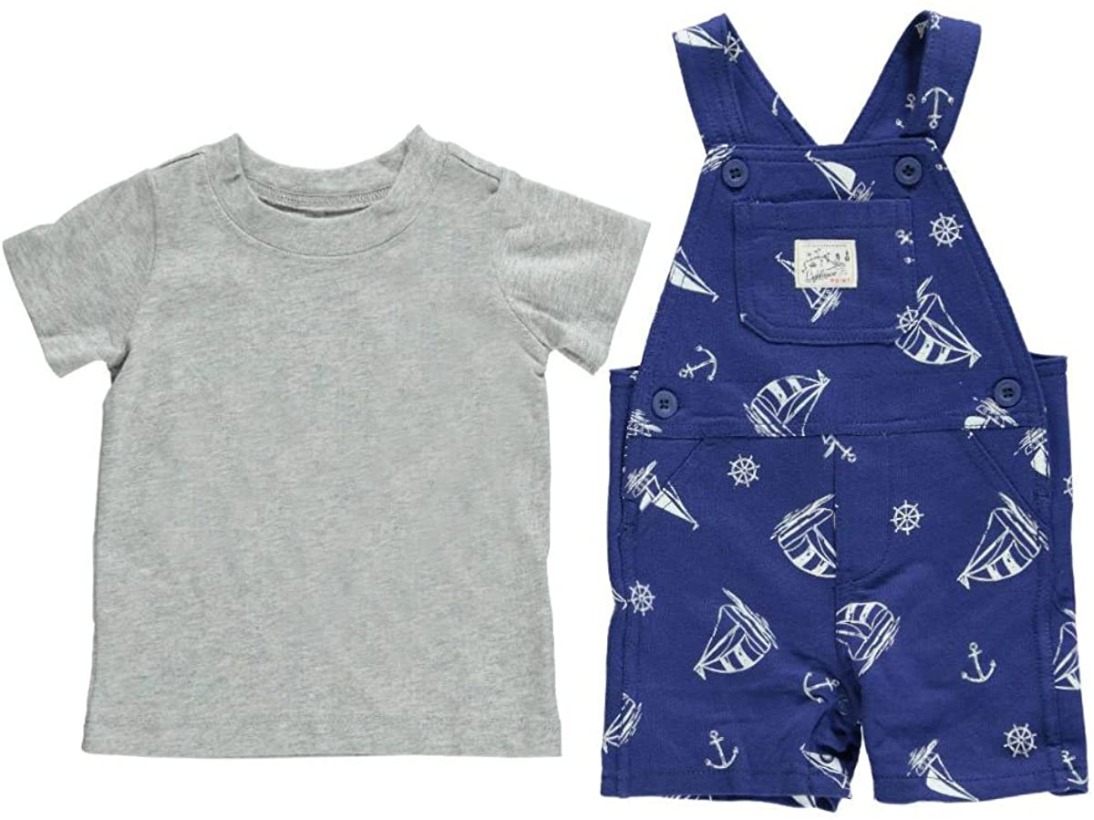 Carter's 2 Piece Print Shortall Set (Baby)