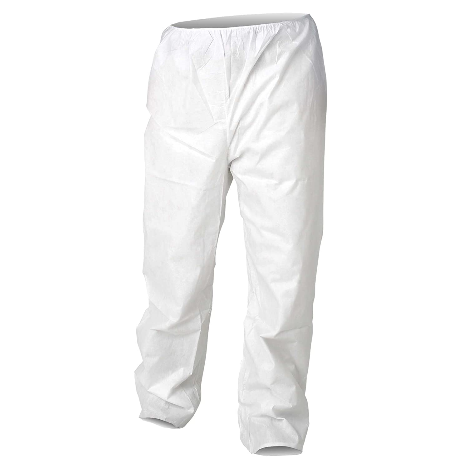 Kleenguard A20 Breathable Particle Protection Pants (36224), Serged Seams, Elastic Waist, Open Ankles, White, XL, 50 / Case