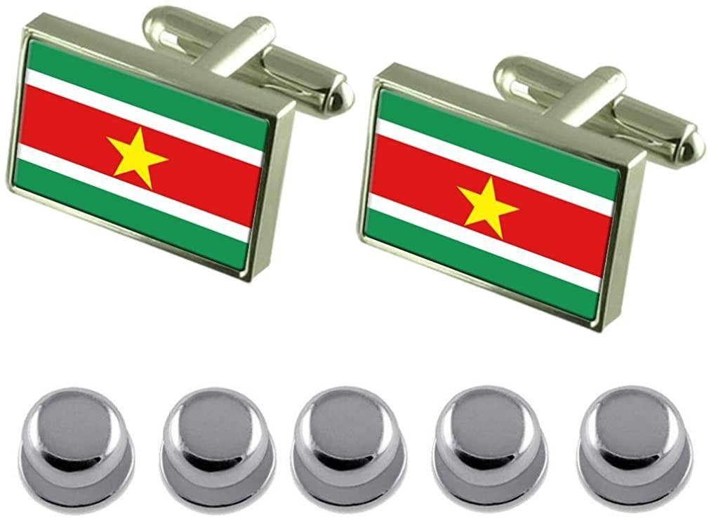 Select Gifts Shirt Dress Studs Suriname Flag Cufflinks