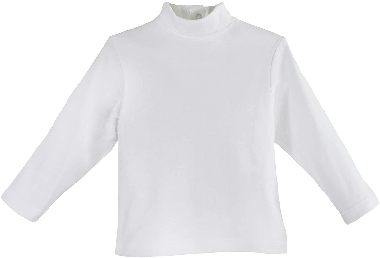 Petit Ami Baby Boys' Organic Cotton Knit Turtleneck Shirt, White