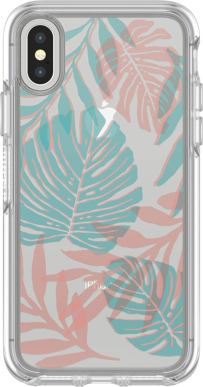OtterBox SYMMETRY CLEAR SERIES Case for iPhone Xs & iPhone X - Retail Packaging - EASY BREEZY (CLEAR/EASY BREEZY)