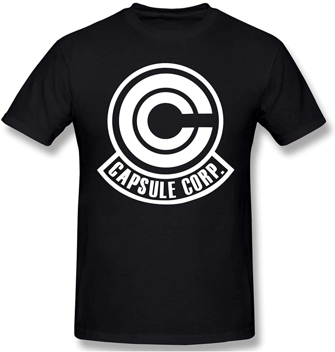 NYF Capsule Corp Mens Short Sleeve T-Shirt Graphic T-Shirts Tee Black