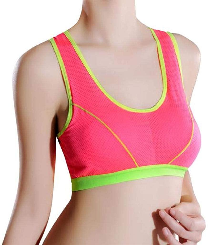 REYO Women Solid Sports Bra Fitness Yoga Bra Underwear High Impact Workout Racerback Athletic Tops Bra