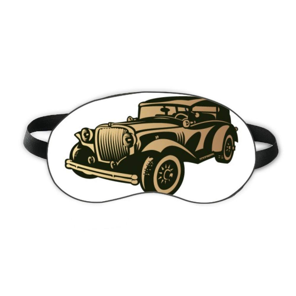 Black Classic Cars Outline Pattern Sleep Eye Shield Soft Night Blindfold Shade Cover