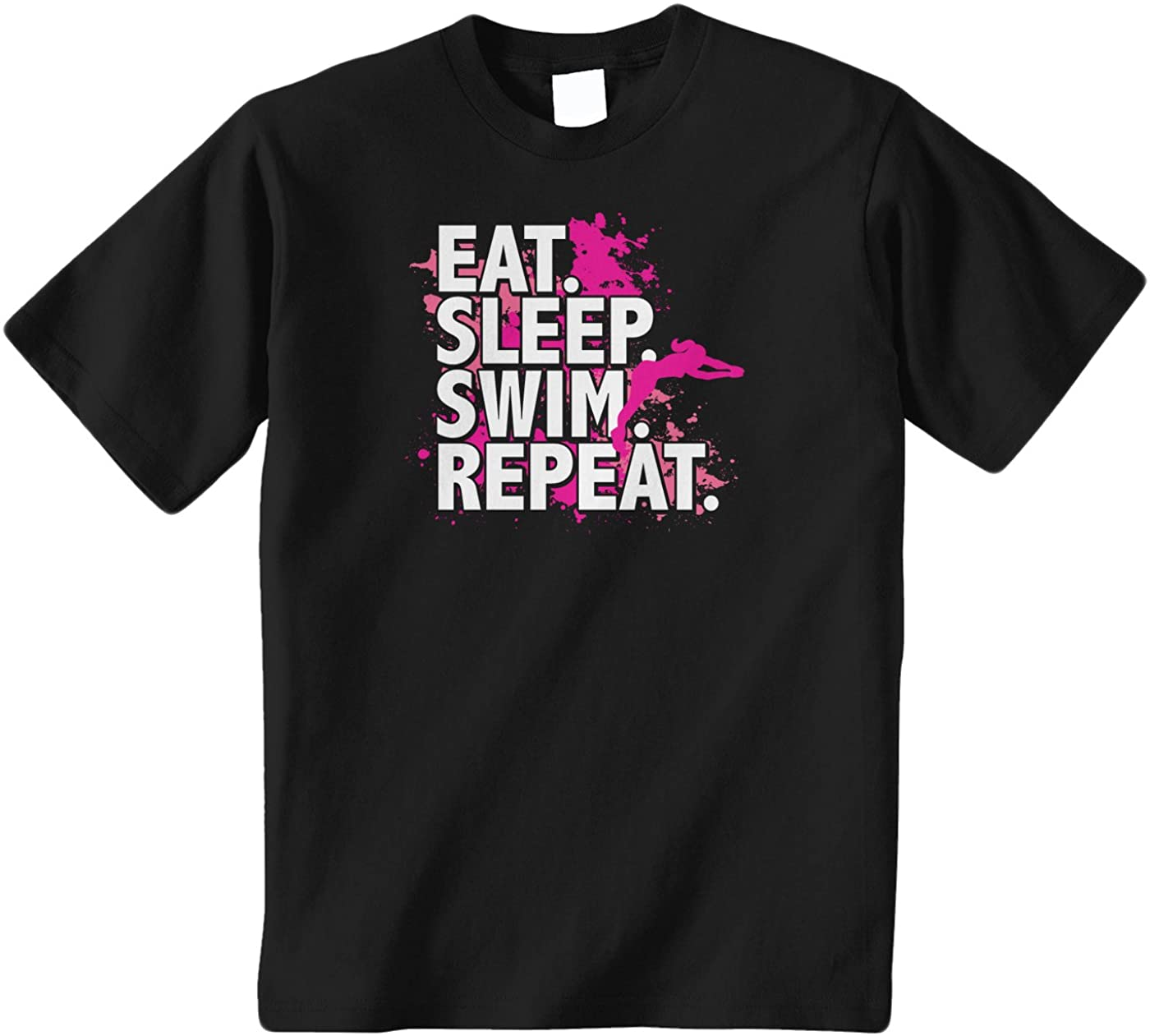 Threadrock Big Girls Eat Sleep Swim Repeat Youth T-Shirt