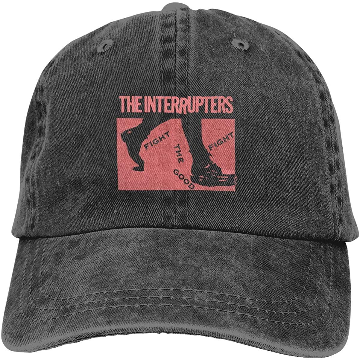 Kbk The Interrupters Adjustable Unisex Hat Baseball Caps Black