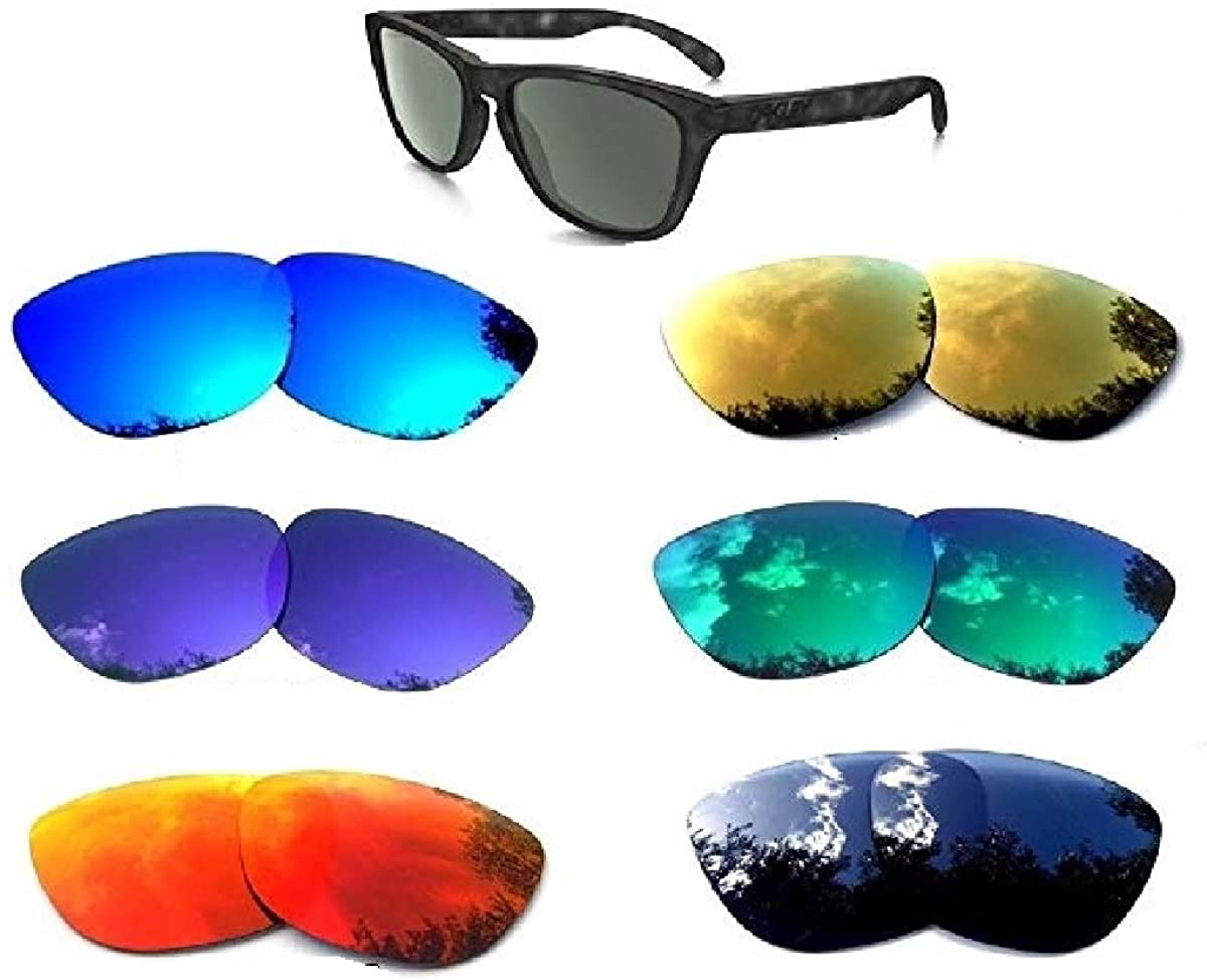 Galaxy Replacement Lenses For Oakley Frogskins 6 Color Pairs Polarized 100% UVAB