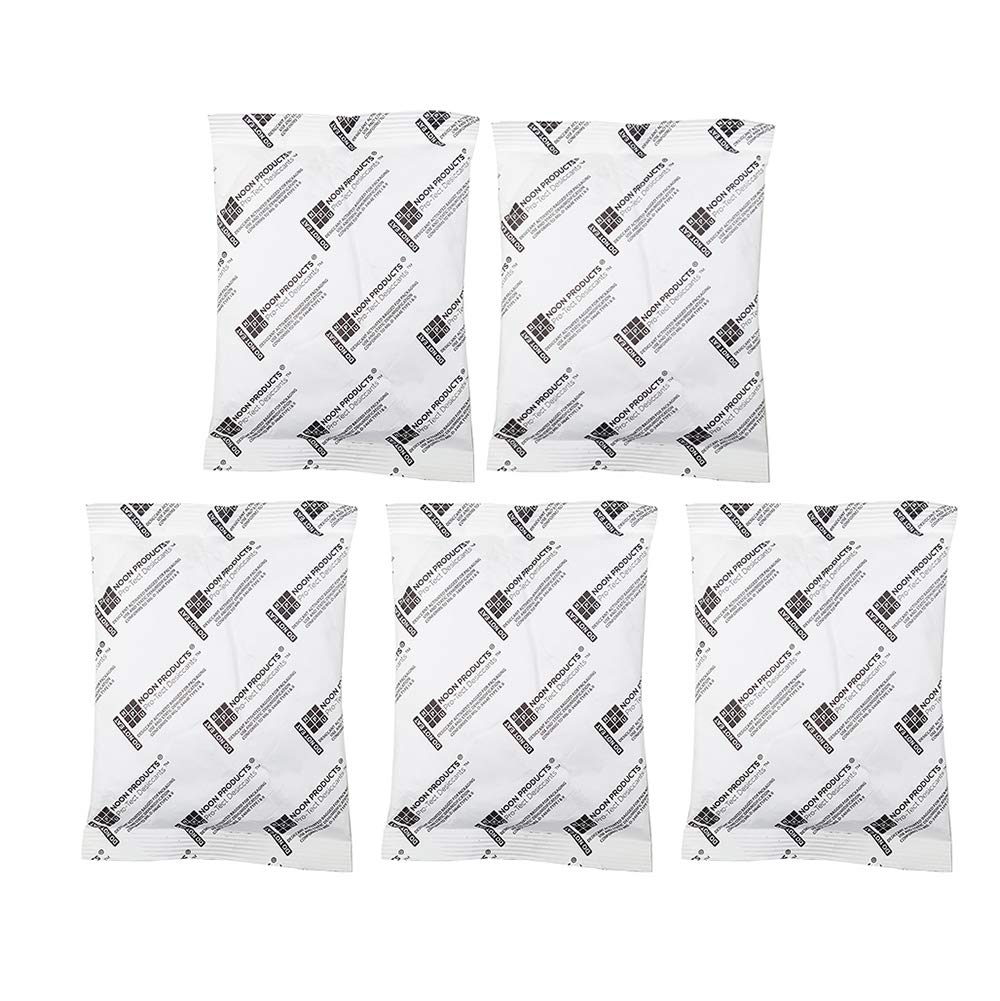 Gun Safe Silica (5 Pack) 200 Gram Silica Gel Desiccant Packet, Military Grade Dehumidifier Moisture Absorbing Drying Bags Conforms to MIL-D-3463E Type I & Type II Absorbent