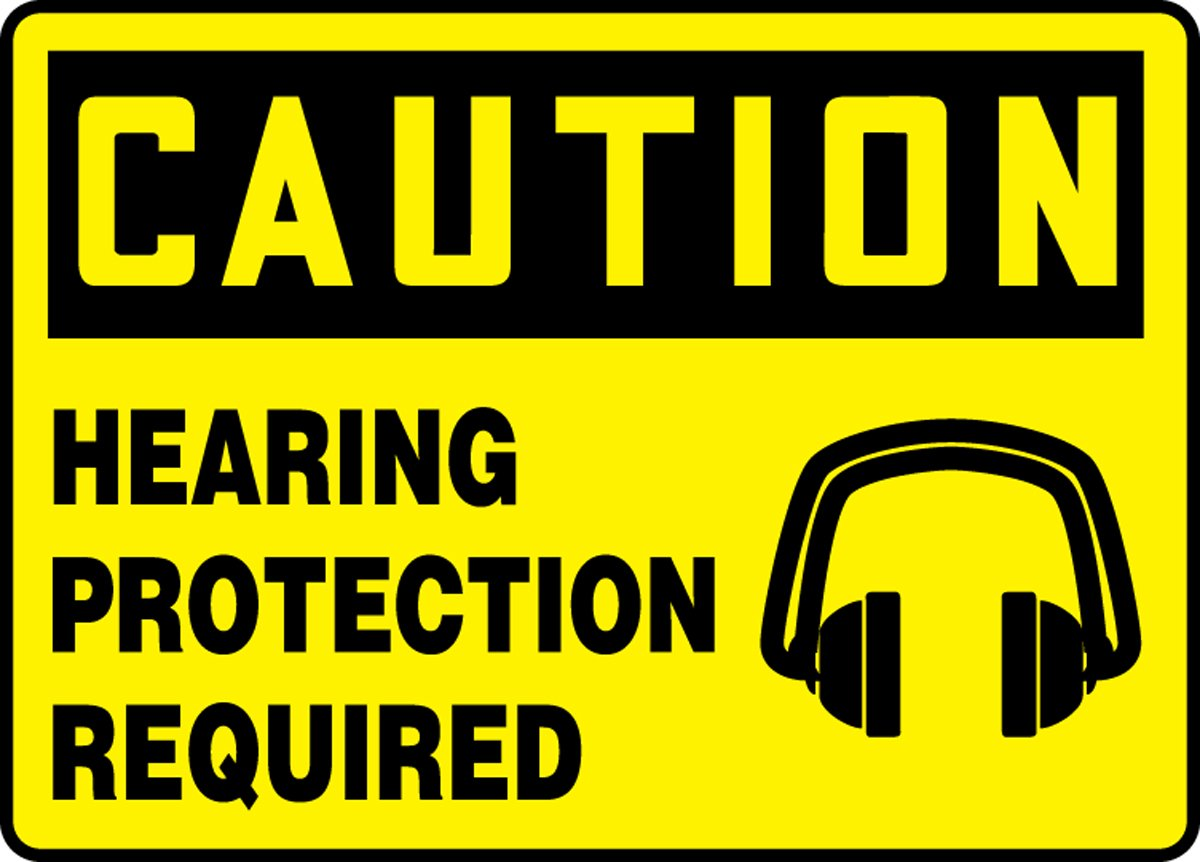 HEARING PROTECTION REQUIRED (W/GRAPHIC) (3 Pack)