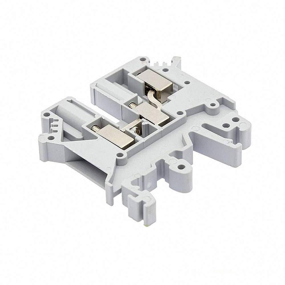 10Pcs UK-5-TWIN Din Rail Terminal Blocks One in Two Out Multi Conductor UK5 3 Conductors Screw Terminal Block