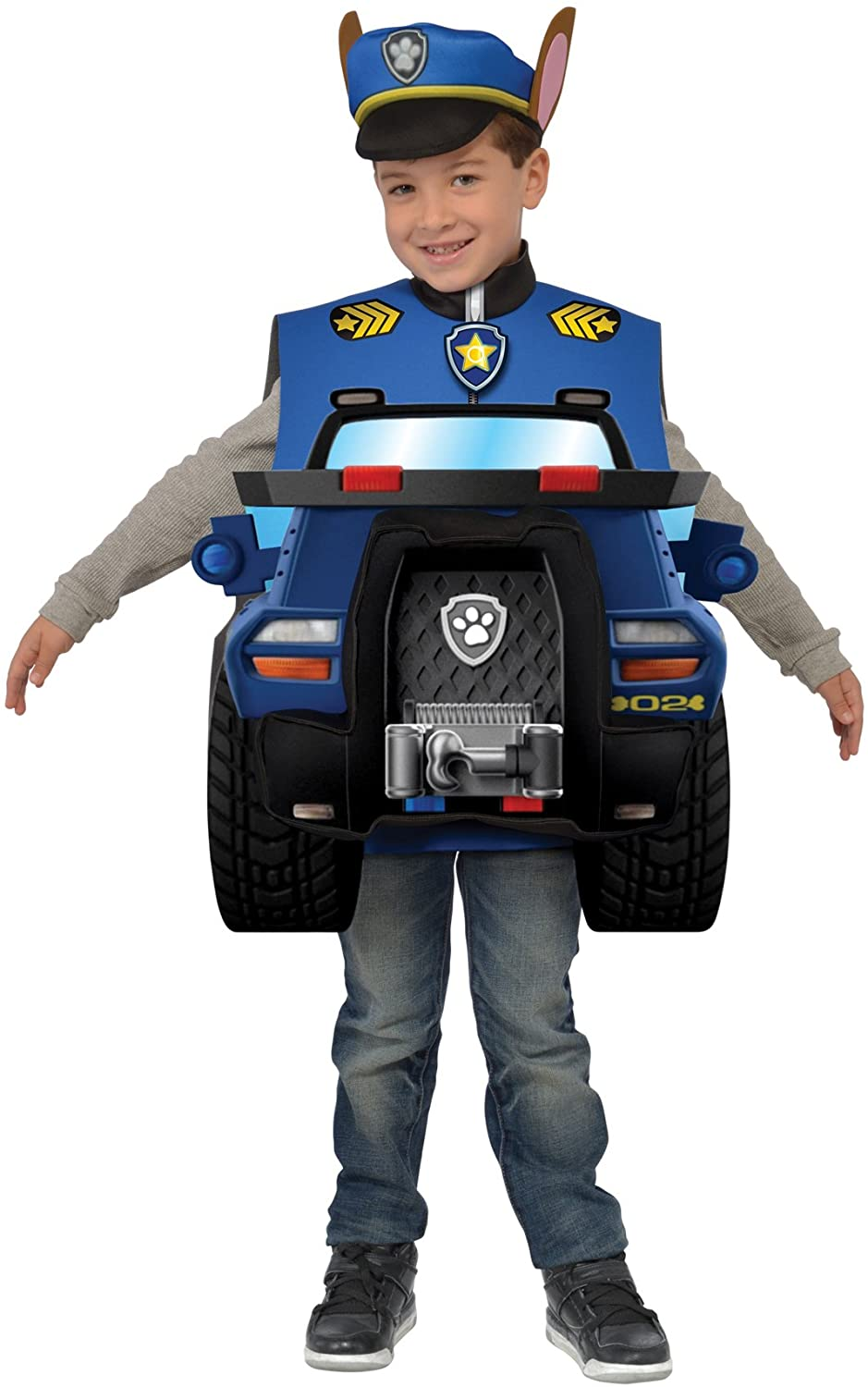Deluxe Paw Patrol Chase Funny Theme Fancy Dress Boys Halloween Costume