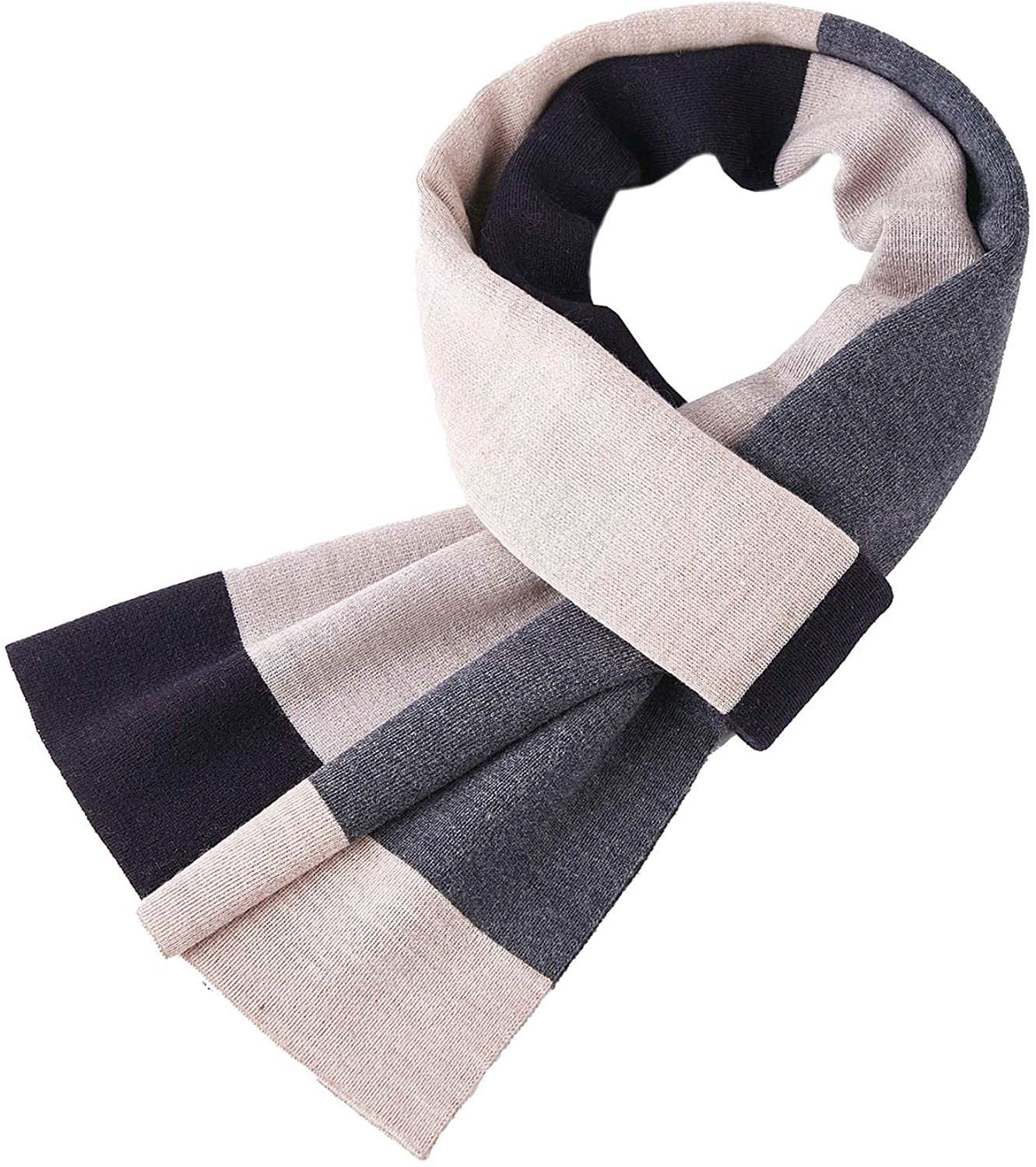 Taylormia Men's Merino Wool Scarf - Warm Soft Thick Long Scarves for Fall & Winter
