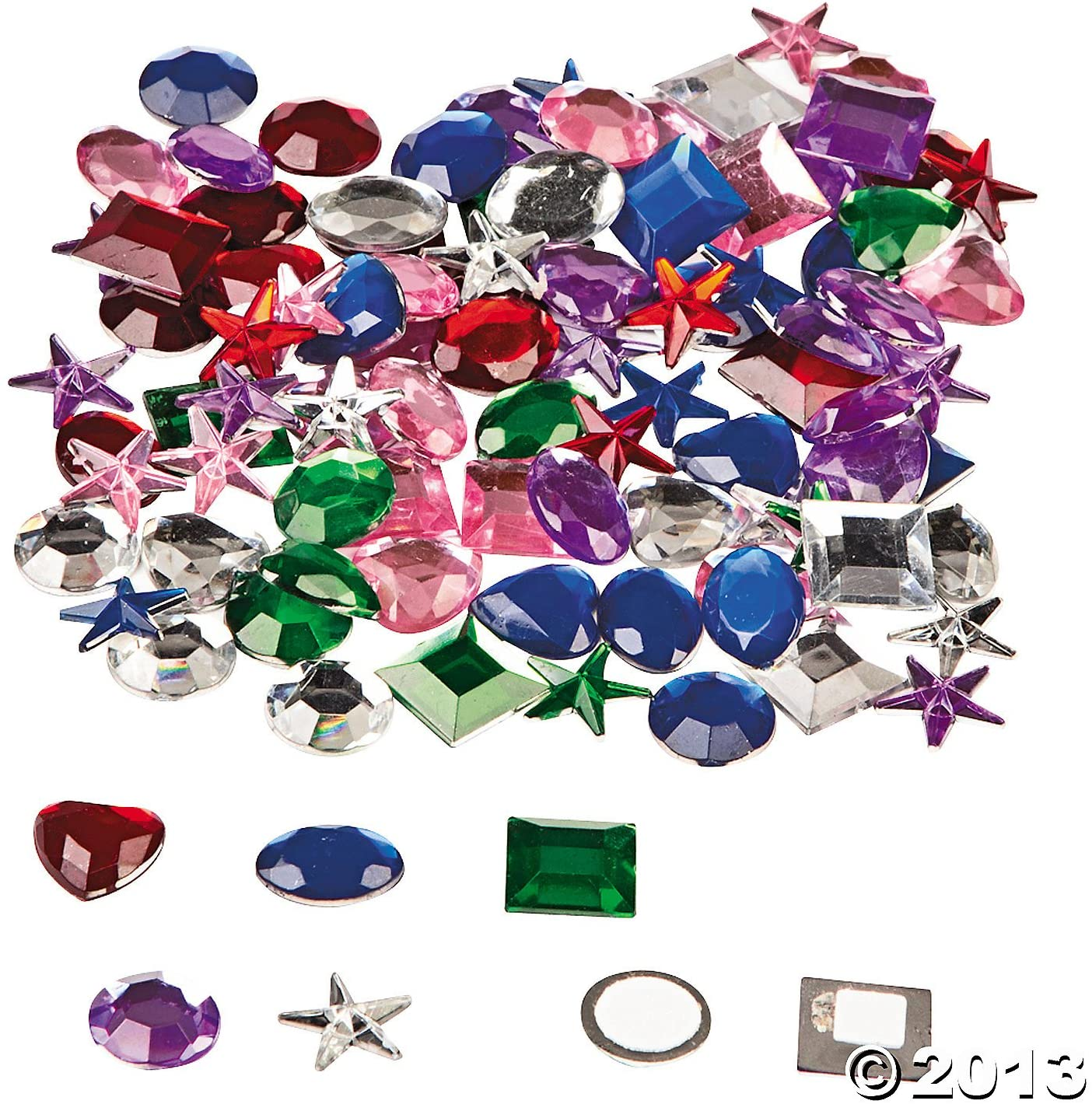 Acrylic Adhesive Jewels (Pack of 100)