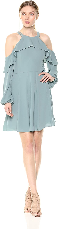 BCBGMAXAZRIA Women's Katryna Cold-Shoulder A-line Dress