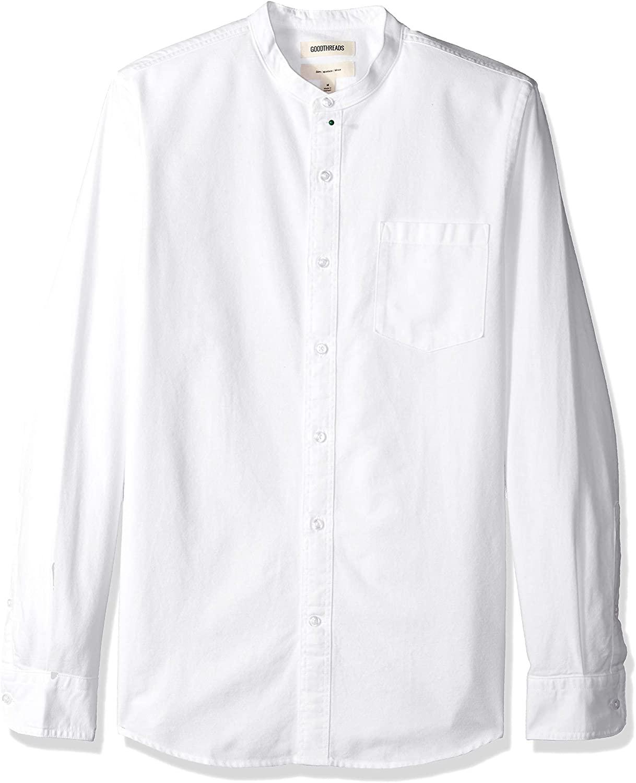 DHgate Brand - Goodthreads Men's Slim-Fit Long-Sleeve Band-Collar Oxford Shirt
