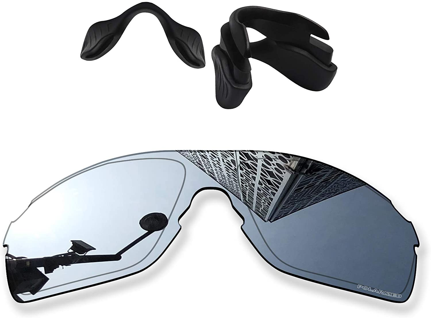 MYCOURAG Anti-Salt Polarized Replacement Lenses Compatible with Oakley EVZero Pitch OO9383 Sunglass - Titanium Mirror Coated