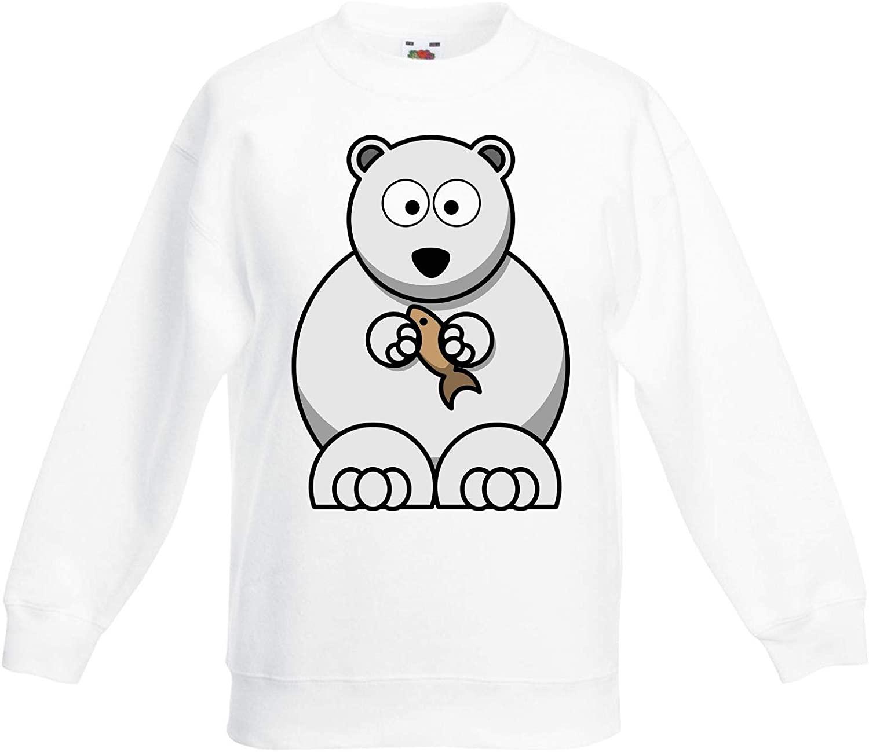 Cartoon Polar Bear Animals Children's Toddler Kids Sweatshirt Jumper