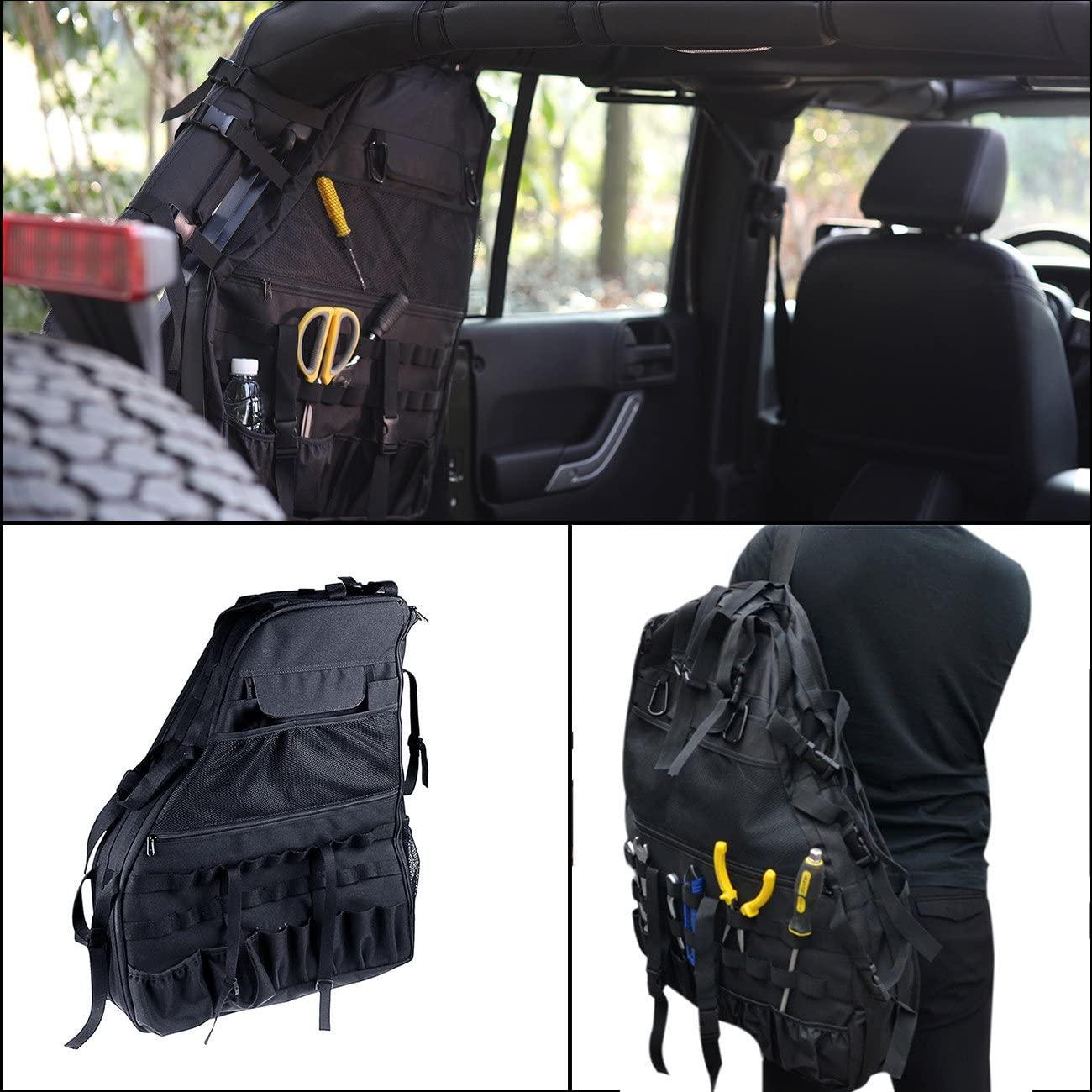 Door/Window Storage Bags cargo bag saddlebag Tool Kits For 4-door Jeep Wrangler JK 2007-2016 (left)
