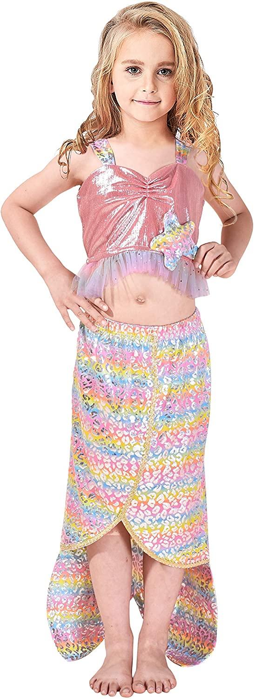 Sunny Fashion Girls Dress Mermaid Princess Costume Halloween Party Dress