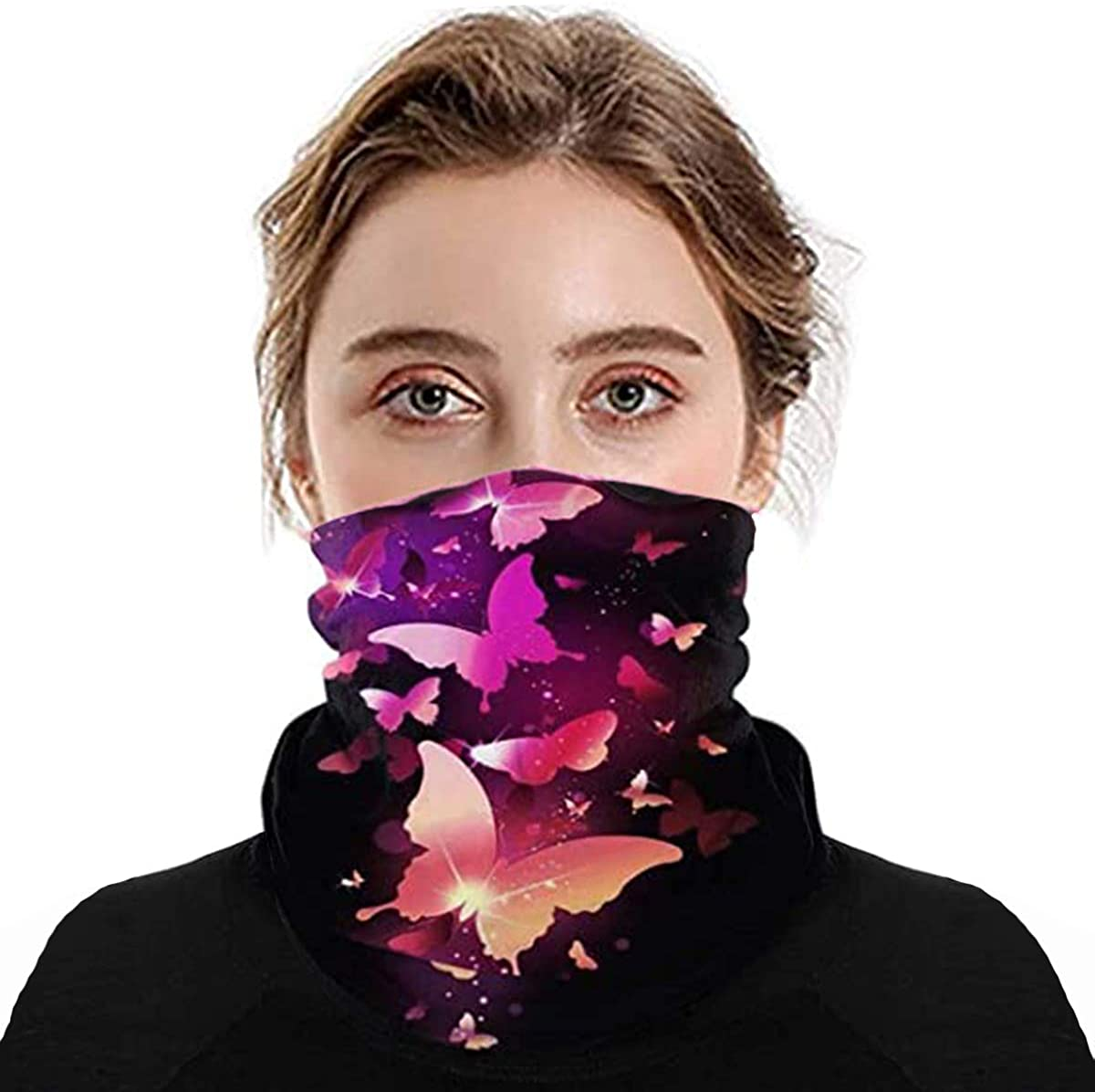 Face Mask Seamless Bandanas Multifunctional Headbands Scarf Headwrap Neck Gaiter for Women Men Fishing Motorcycling Running