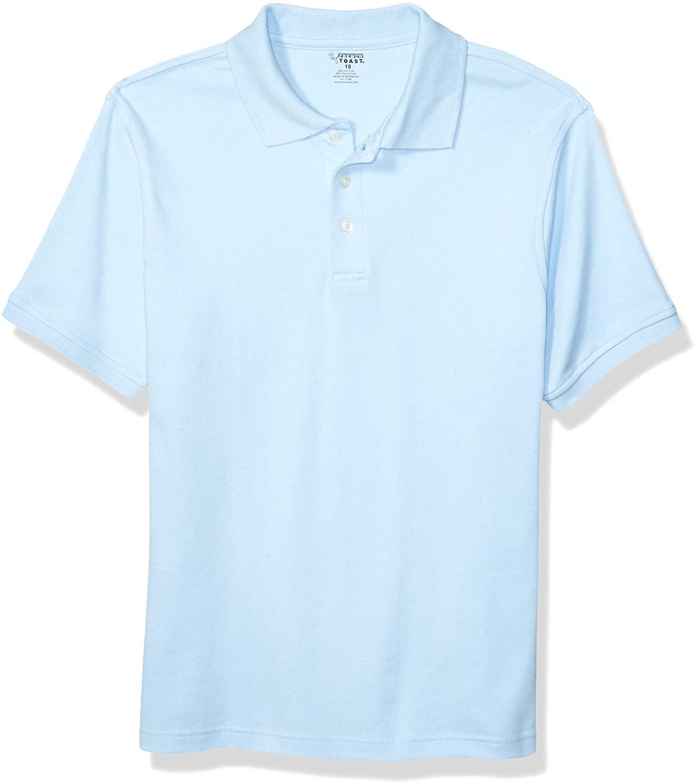French Toast Boys' Big Short Sleeve Interlock Polo Shirt