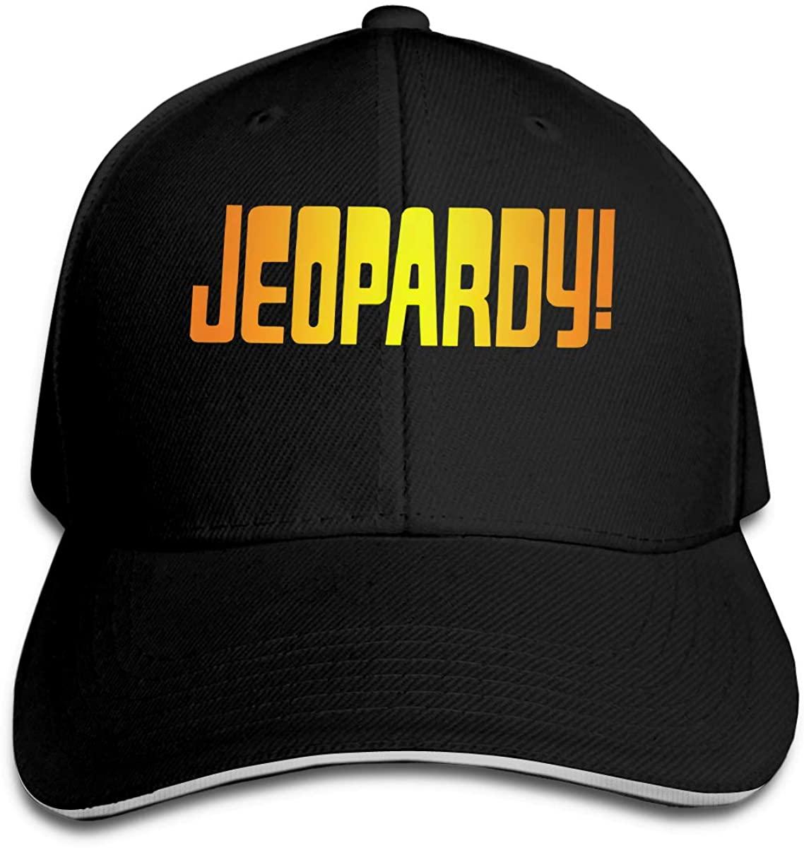 Jeopardy! Hip Hop Baseball Cap Golf Trucker Baseball Cap Adjustable Peaked Sandwich Hat Black Unisex Casquette