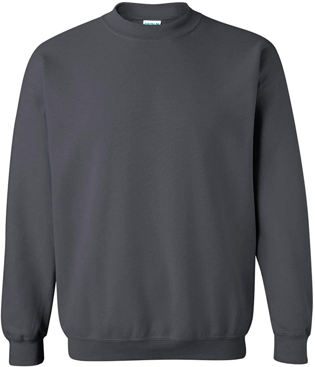 Gildan 18000 - Classic Fit Adult Crewneck Sweatshirt Heavy Blend - First Quality - Dark Heather - Small