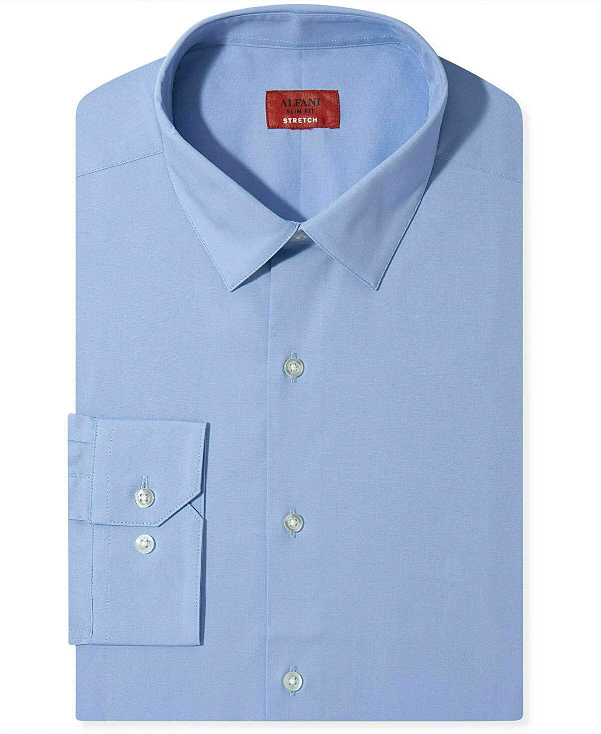 Alfani Mens Slim-Fit Button Up Dress Shirt