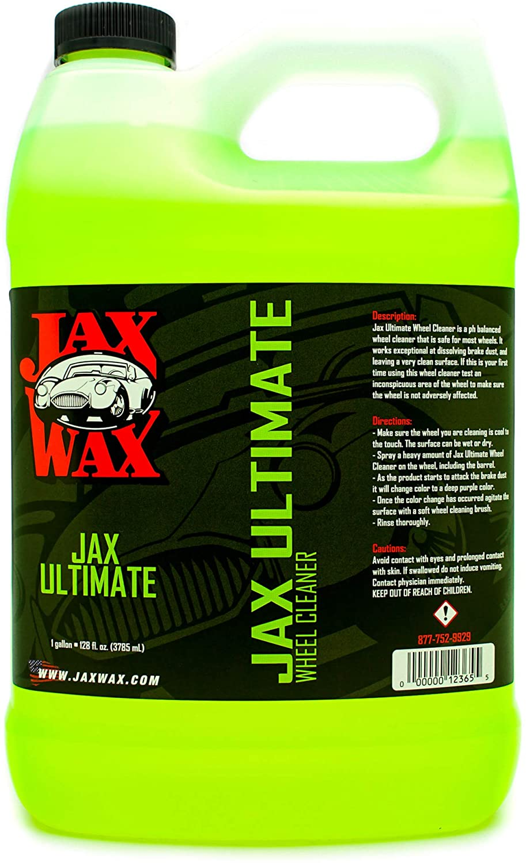 Jax Wax Ultimate Wheel Cleaner - Tire and Rim Washing Spray, 1 Gallon