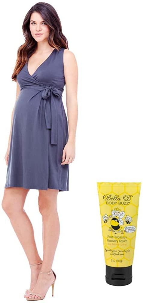Bundle 2item Ingrid & Isabel Sleeveless Maternity Wrap Dress + BellaBBodyBuzz2oz