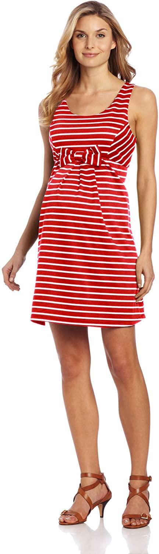 Maternal America Women's Maternity Sleeveless Bow Dress