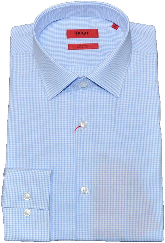 Hugo Boss Kenno 50409908 Mens Micro Check Easy Iron Shirt