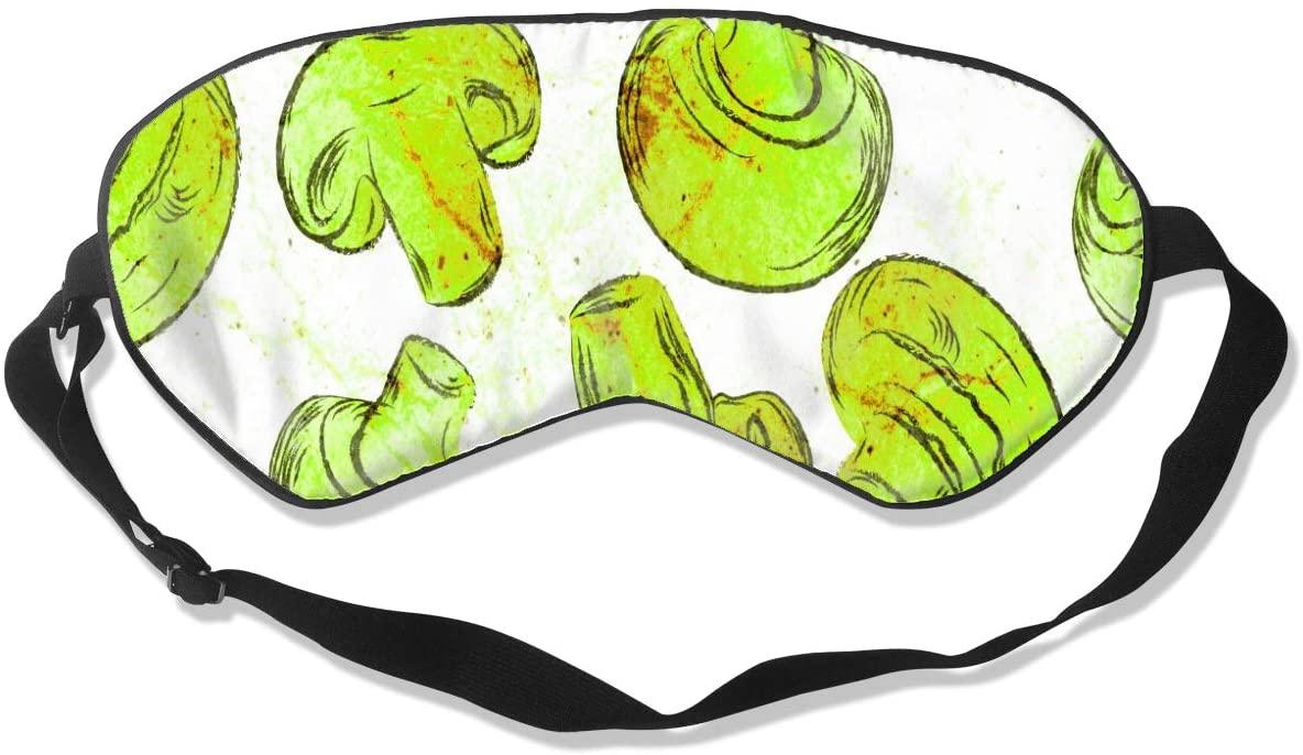 Sleep Mask Eye Blindfold Mushrooms Abstract Seamless Eye Mask Eye Cover Eyeshade Adjustable Blindfold Sleeping Mask for Men Women Lightweight