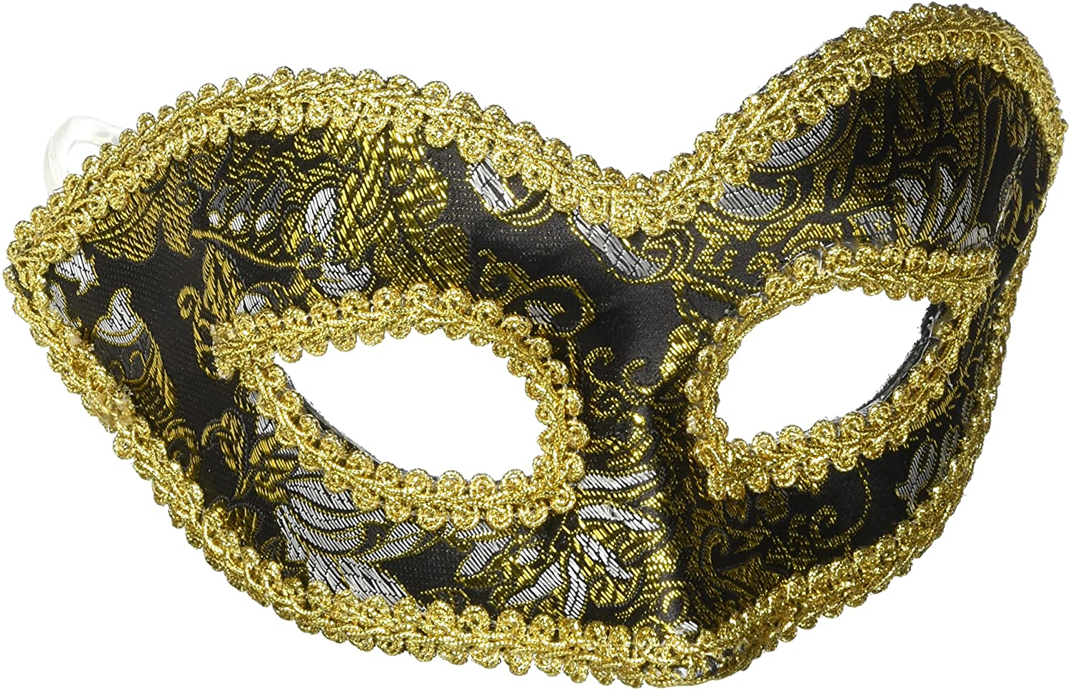 Black & Gold Venetian Mask Glasses