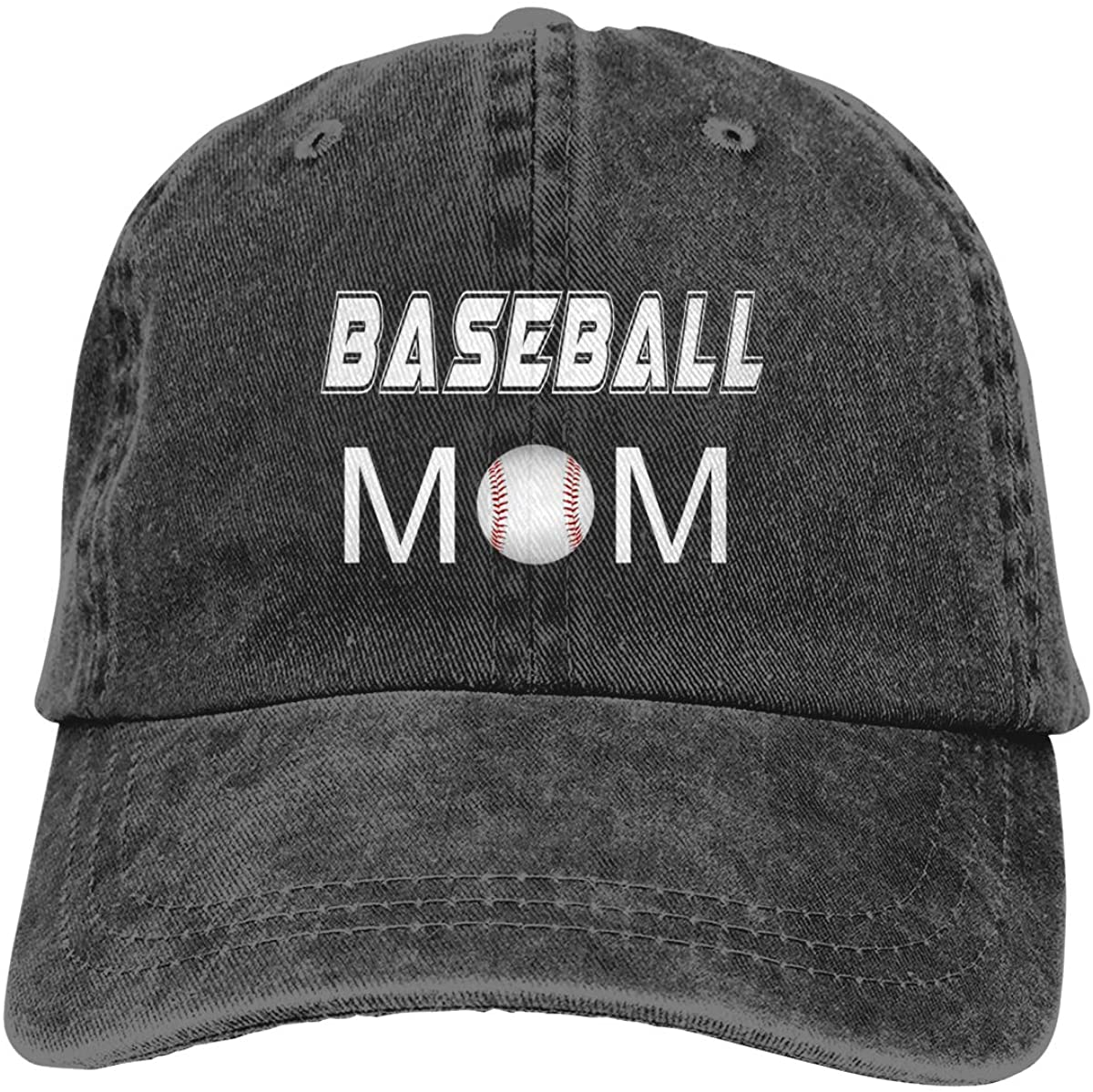 Baseball Mom Black Vintage Adjustable Baseball Cap for Mom Great Idea