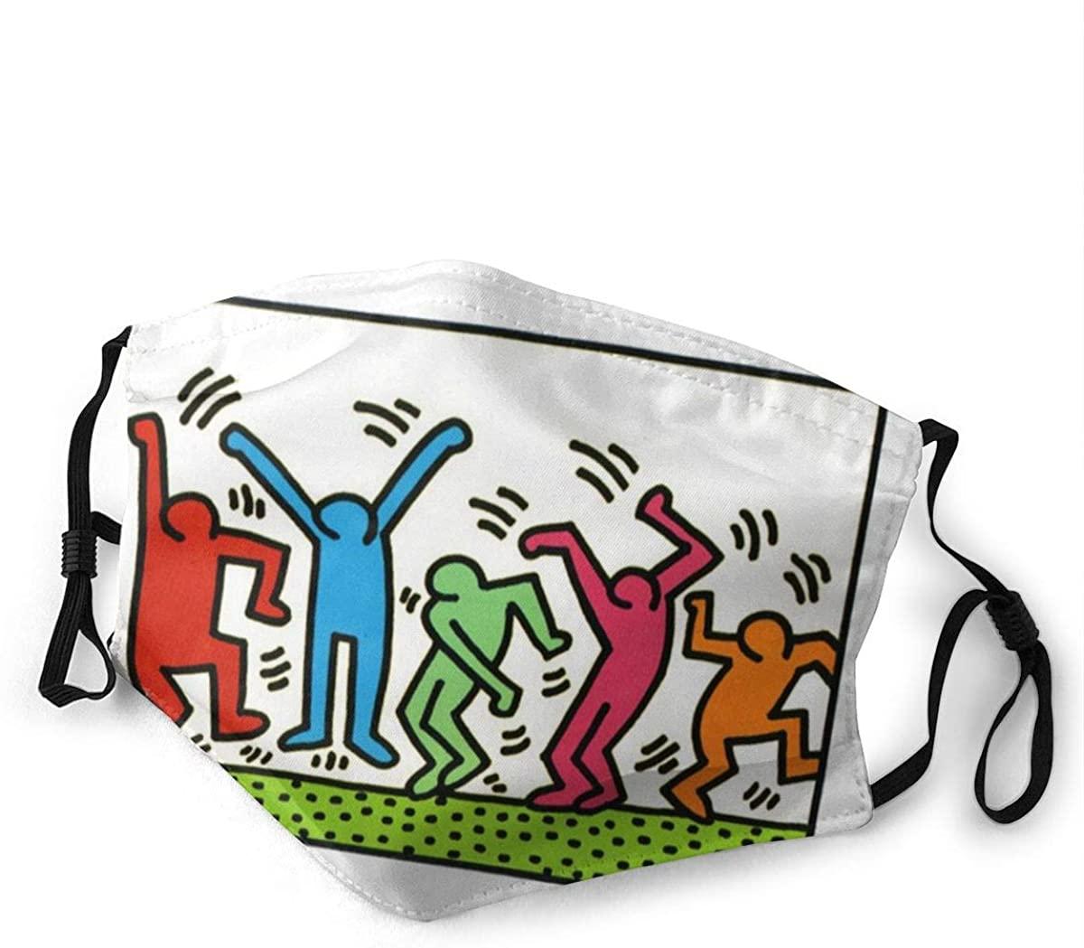 CAVIH Masks-Keith Haring Dustproof Adjustable Unisex