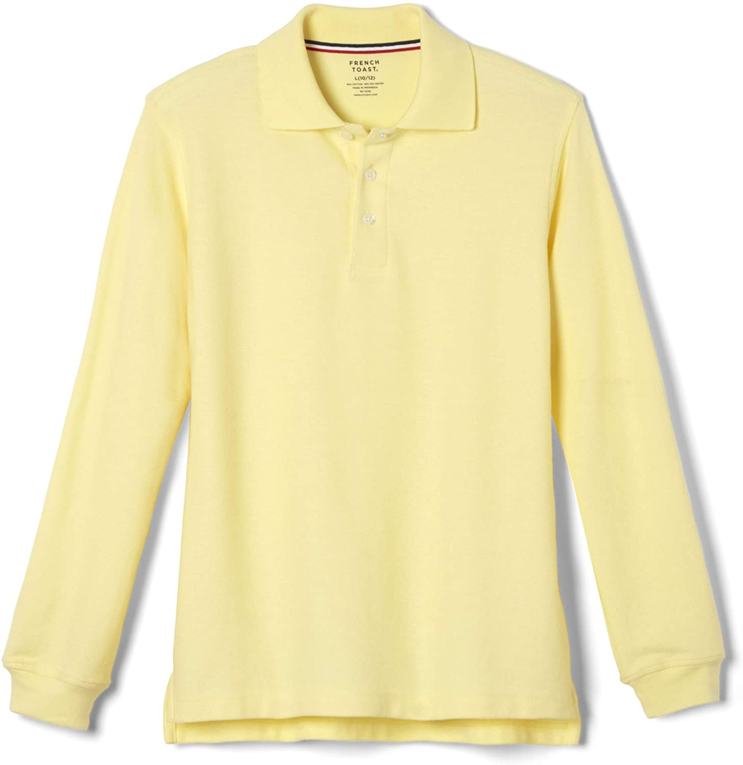 Unisex Long Sleeve Pique Knit Shirt By French Toast (Size 4, Yellow)