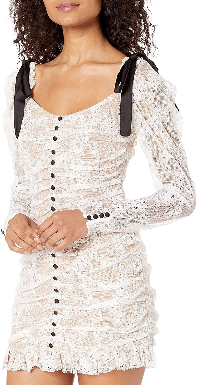 For Love & Lemons Womens Beverly Pleated Mini Dress