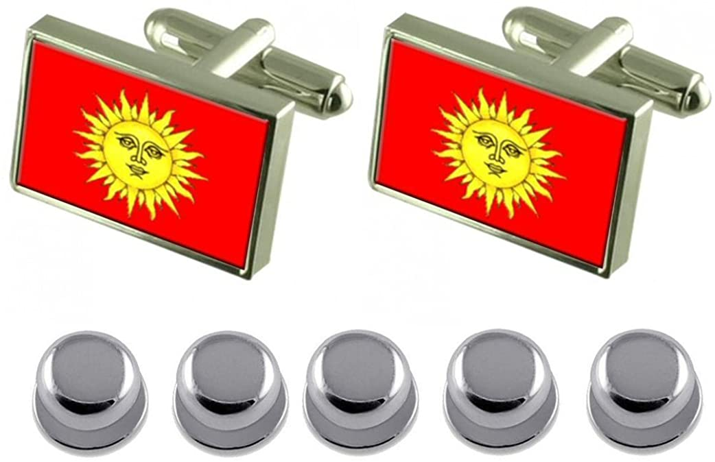 Select Gifts Shirt Dress Studs Svietlahorsk City Belarus Flag Cufflinks