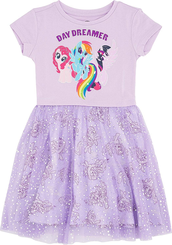 My Little Pony Girls' Little Tulle Costume Dress