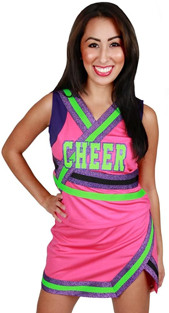 Girls Cutie Pie Cheerleader Halloween Costume (Youth Small)