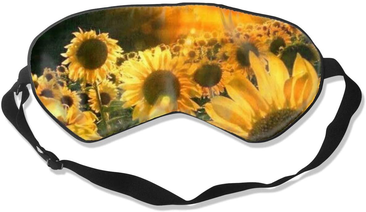 Sleep Eye Mask For Men Women,Sunflowers Soft Comfort Eye Shade Cover For Sleeping