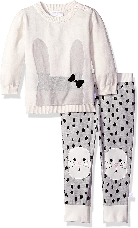 Rosie Pope Baby Girls' 2 Piece Sweater Jersey Pant Set