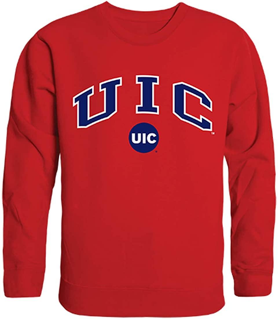 W Republic UIC University of Illinois at Chicago NCAA Men's Campus Crewneck Fleece Sweatshirt
