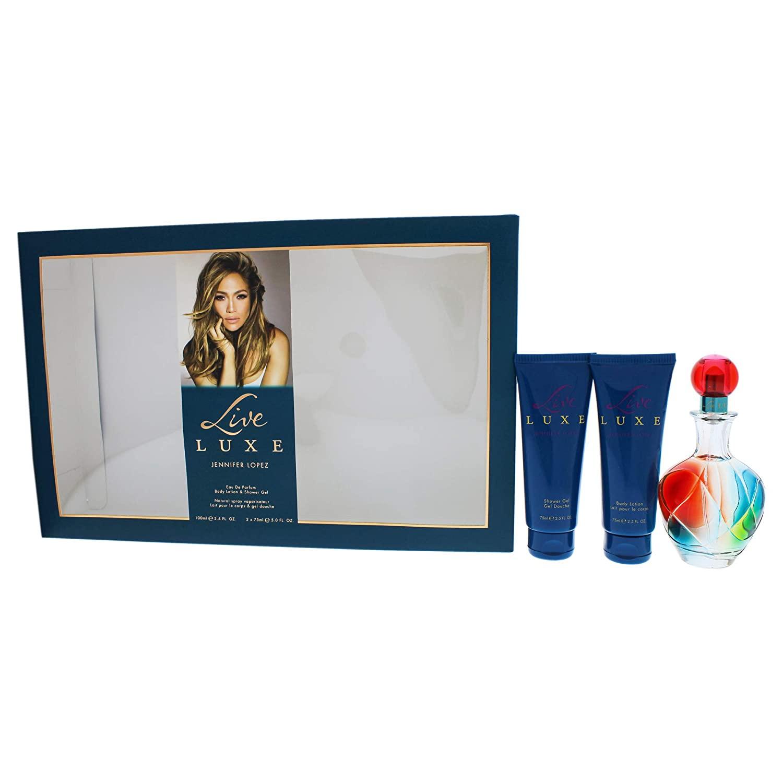 Jennifer Lopez Live Luxe By Jennifer Lopez for Women - 3 Pc Gift Set 3.4oz Edp Spray, 2.5oz Shower Gel, 2.5oz Body Lotion, 3count
