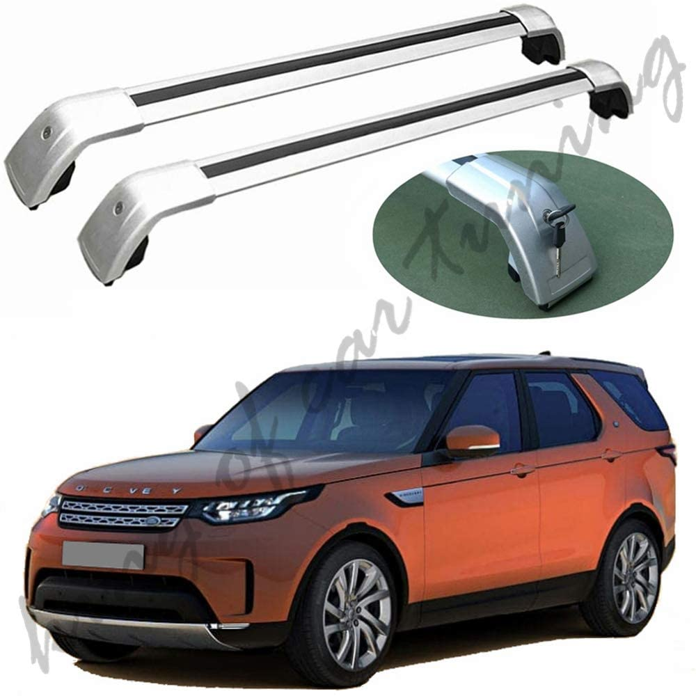 king of car tuning Silver Crossbars Cross Bars Roof Rail Racks Fits for Land Rover Discovery 5 Discovery5 L462 2017 2018 2019 2020