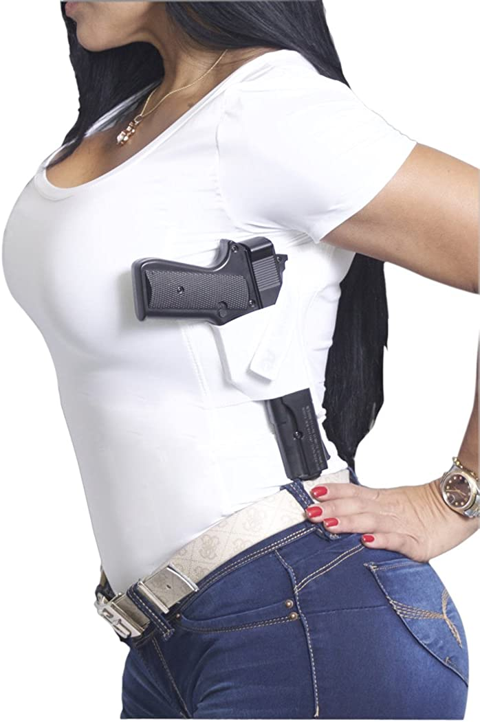 AC UNDERCOVER Women's Concealed Carry Scoop Neck Shirt Holster CCW Tactical