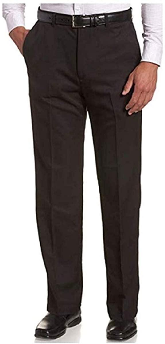 Haggar Men's Classic Fit Premium Non-Iron Pant Hidden Comfort Waist